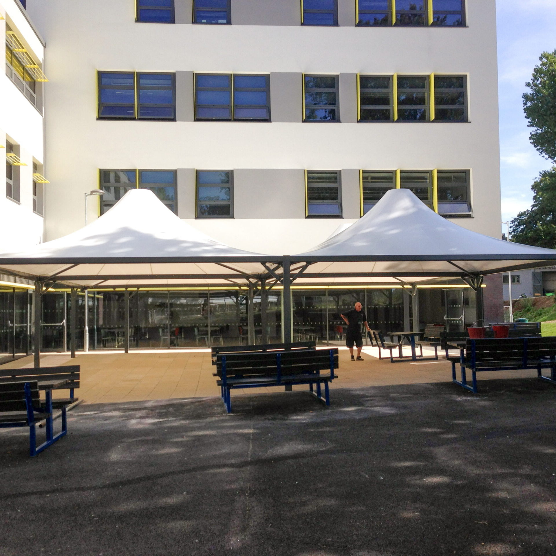 Alton Tensile Fabric Outdoor Dining Canopy