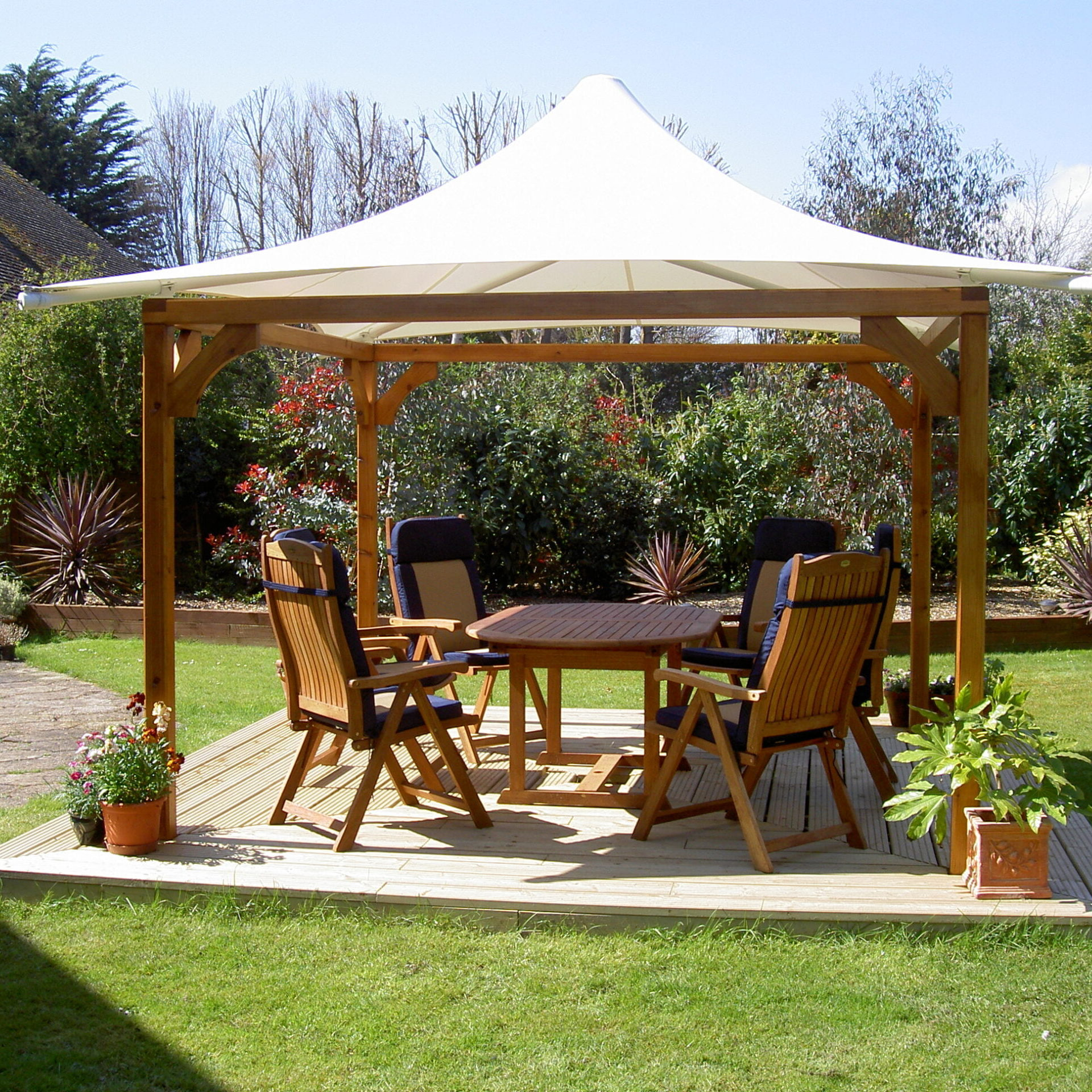 Amberley Tensile Fabric Conic Garden Shade Canopy