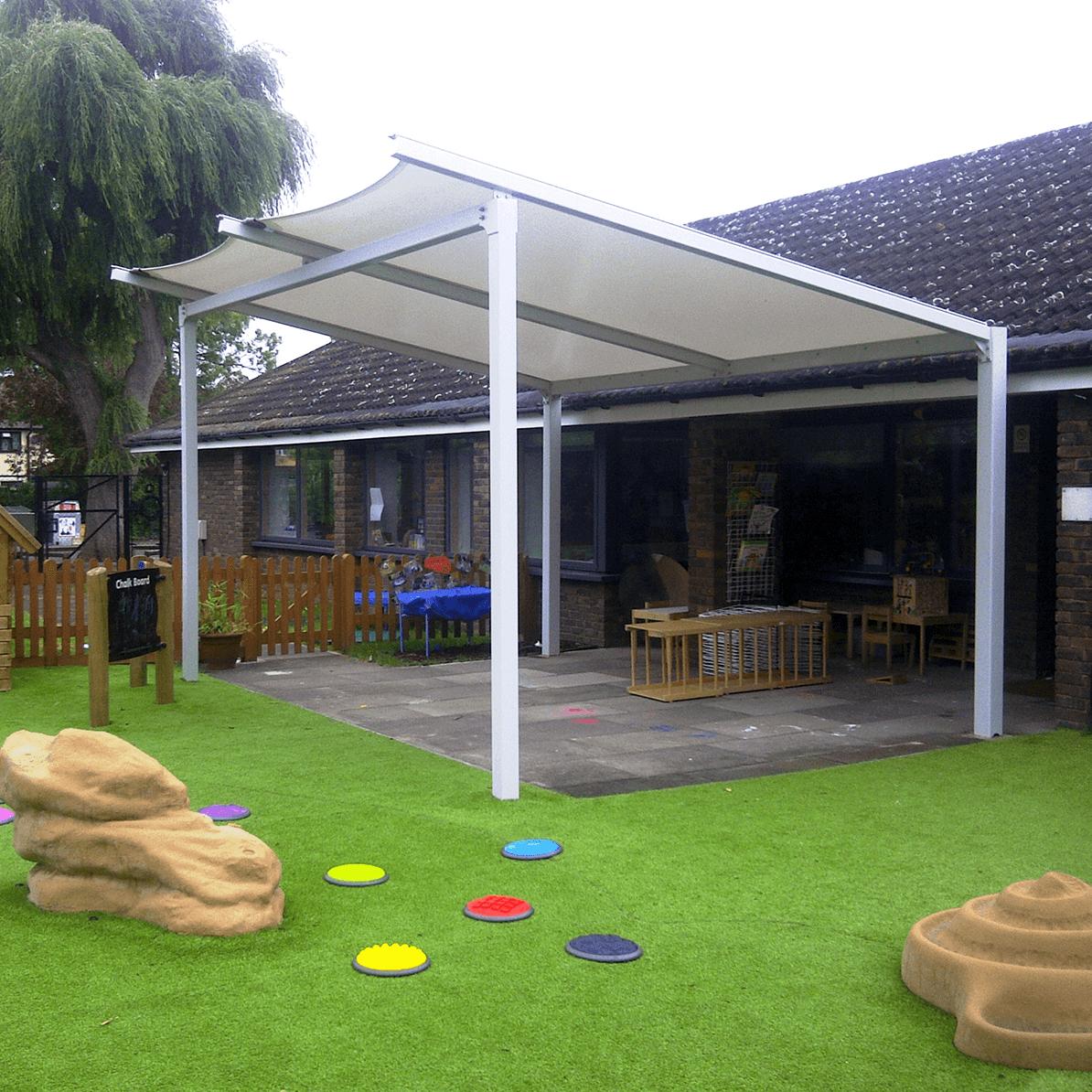 Amesbury Tensile Fabric Freestanding Walkway