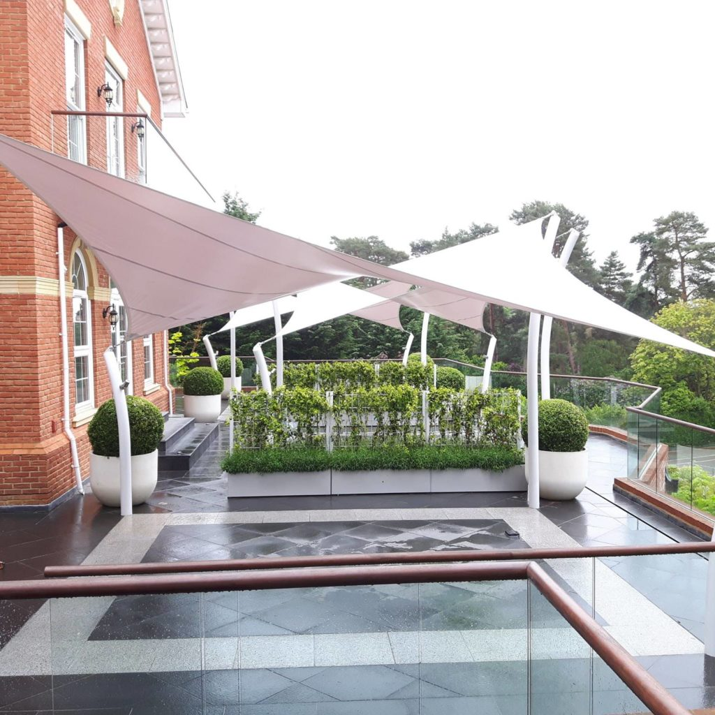 Mayfield Tensile Fabric Hypar Walkway Canopy