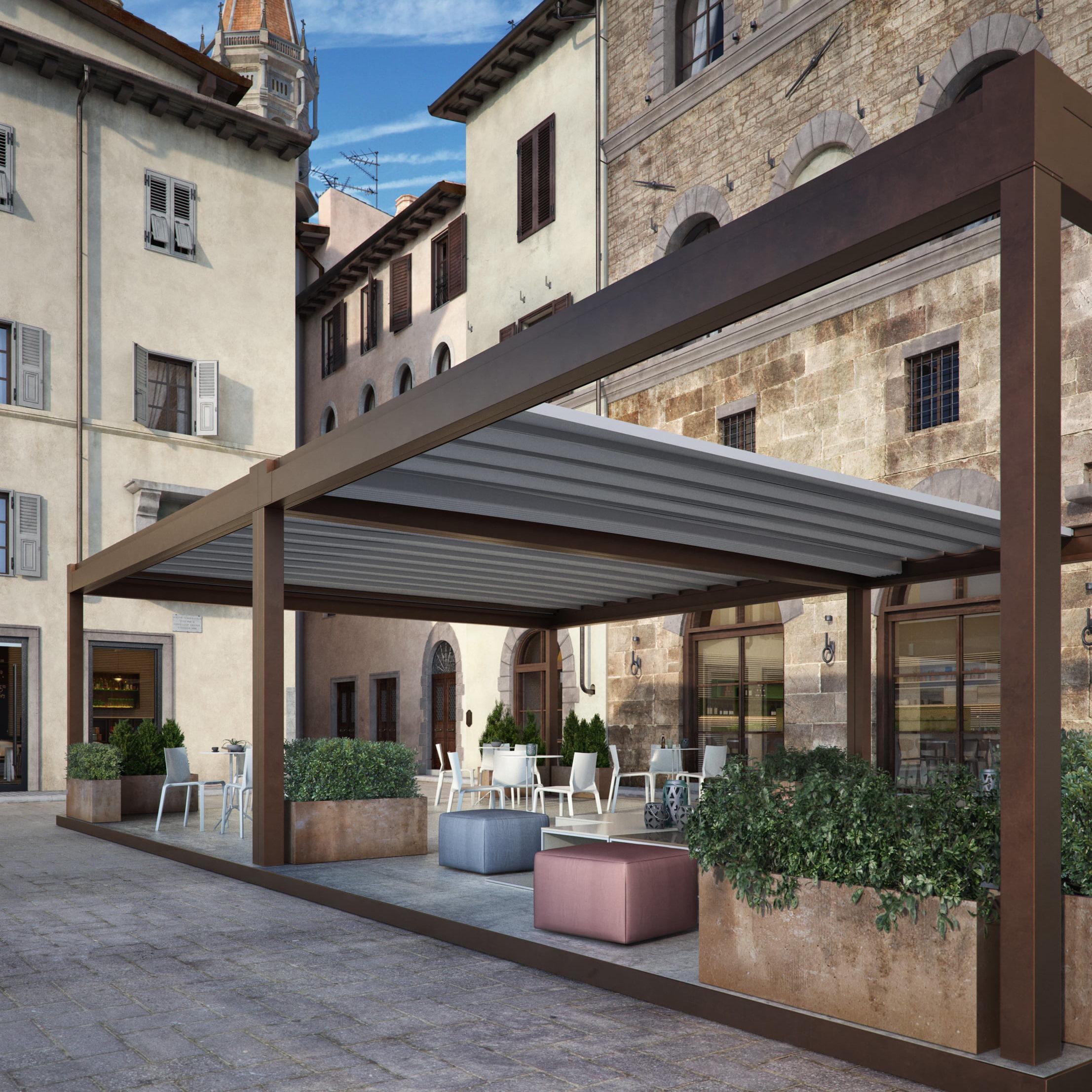 Rialto Retractable Roof Structure