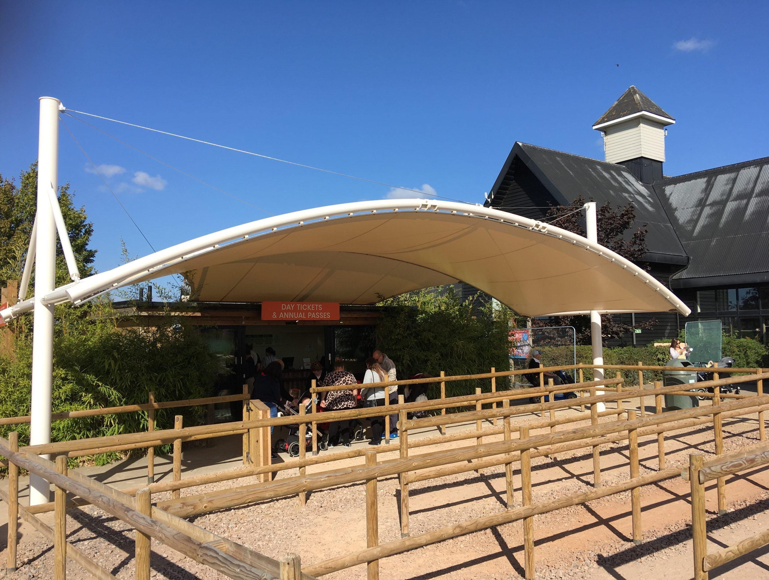 Commercial Canopies - Landsdowne Tensile Fabric Barrel Vault