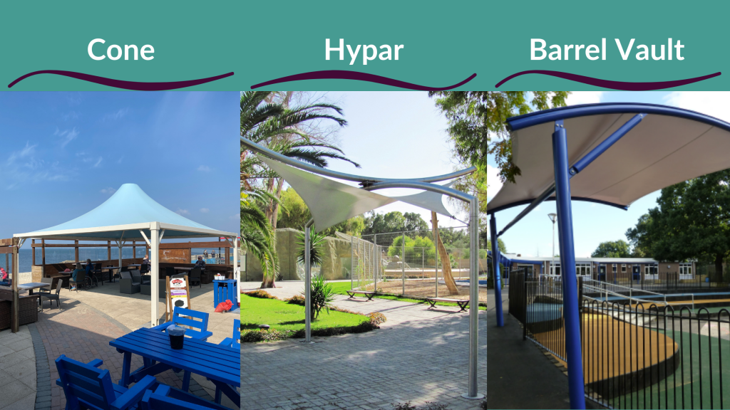 Different Styles of Tensile Fabric Structures