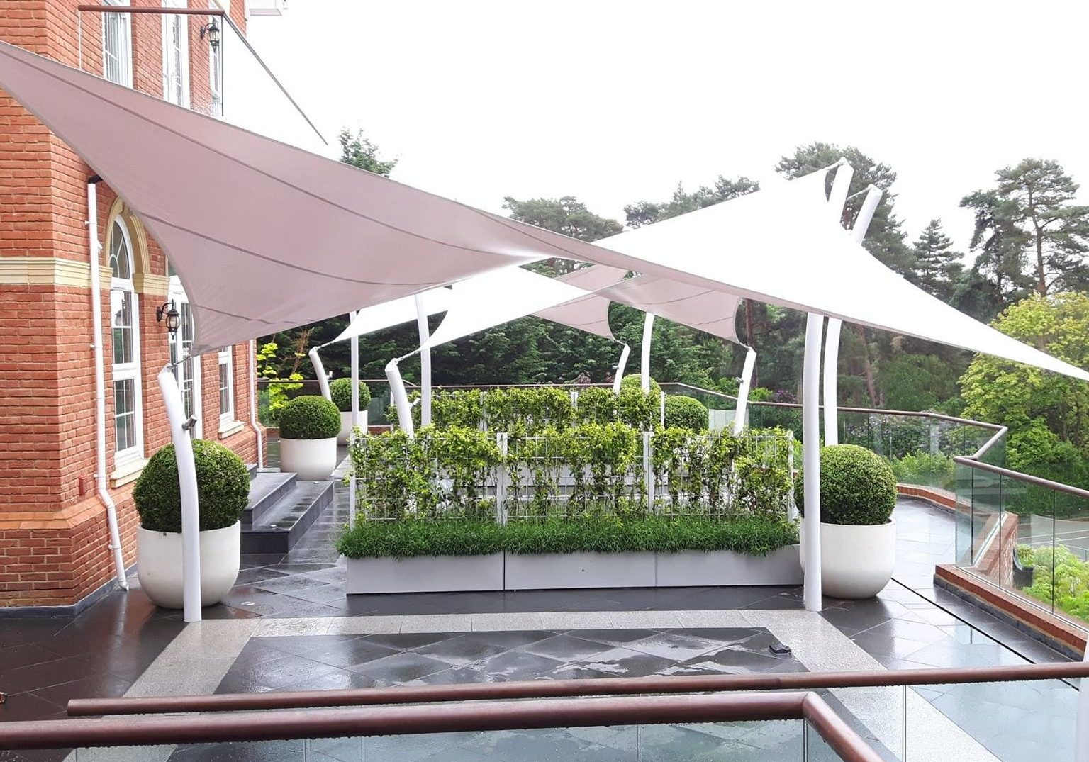 Mayfield Tensile Fabric Hypar Canopy